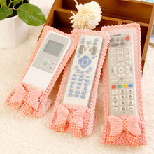 Cloth remote control set tv machine air conditioning remote control protective case dust cover(S.M.L 3 PCS)(China)