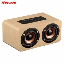 Noyazu Desktop hoparlor Retro Wood Bluetooth Speaker portatil Sound Daul loudspeaker Boombox Stereo Speaker System for Notebook