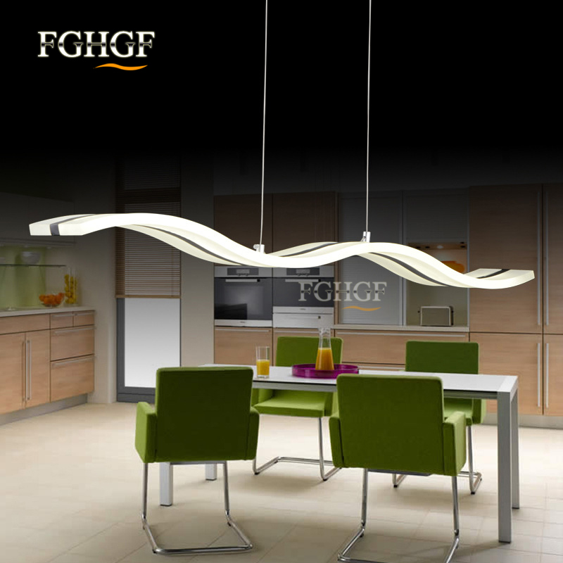 Hanging Modern Led Chandelier Lights For Dining Room Bar suspension Wave luminaire Lustres Chandeliers Lamp Lighting Fixtures (11)