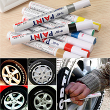 1PC Universal Waterproof Pen Car Tyre Tire Tread CD Metal Permanent Paint markers 8 Colors Graffiti Oily Marker Pen(China)