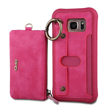 For iPhone 6 Case Detachable PU Leather Flip Wallet Purse Case For iPhone 6S Pouch Handbag Ring Grip Cover For iPhone 6 6S Plus