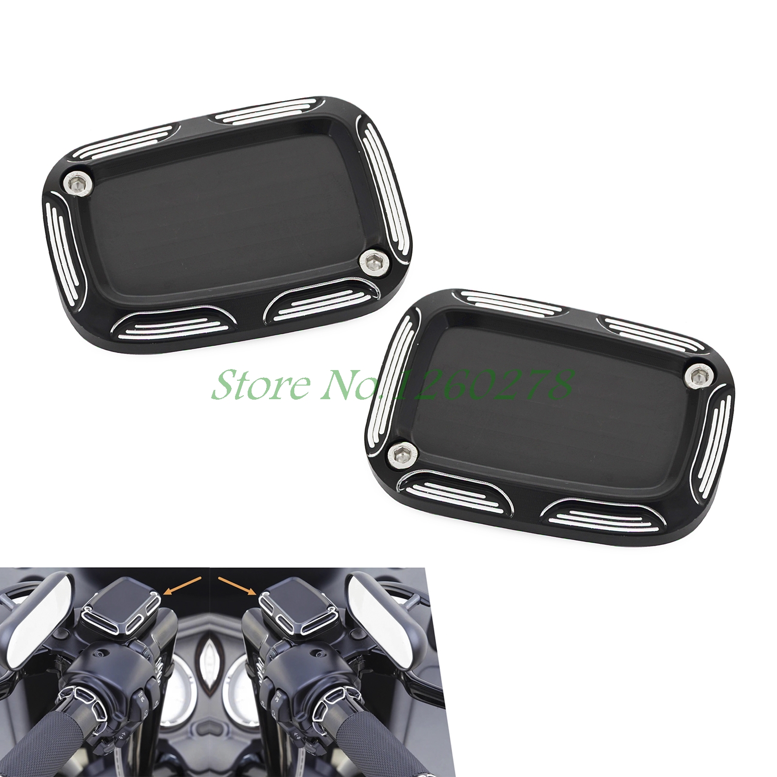 Edge Cut Front Brake Clutch Master Cylinder Cover For Harley Night Rod Special V Rod Muscle VRSCF VRSCDX 2010-2017<br>