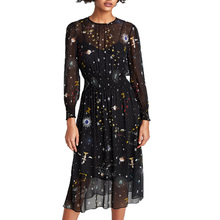 Buy 2017 winter dress casual printing womens clothing black dress women long sleeve maxi dress two piece dress for $16.94 in AliExpress store