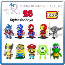 Sales Promotion Mini Qute LOZ Diamond building blocks avengers minions 3D Bricks learning Educational toys boys - MINI QUTE PLASTIC BLOCKS & METAL PUZZLE WORLD store