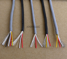 5M 28AWG 2547 UL2547 PVC 2/3/4 Cores Shielded Signal Wire Headphone Cable Cord