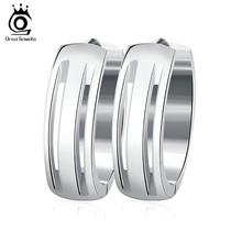 ORSA JEWELS Simple Small Hoop Earrings Fashion Stainless Steel Jewelry for Men Women Birthday's Gift Choose GTE10