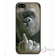 For Samsung Galaxy mini S3/4/5/6/7 edge plus Note2/3/4/5 mobile cellphone cases cover Rude Funny Gorilla Showing Finger