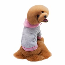 New Cotton Pet Sports Sweater Fight Color Dog Hoodie Teddy Pet Clothes Autumn And Winter Pet Clothing Teddy Bears Y9(China)