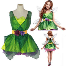 Sexy Woodland Green Fairy Tinkerbell Party Dress Outfit Adult Costume
