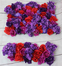 Purplew series artificial rose wedding flower wall backdrop road lead flower table centerpiece flower ball for party market