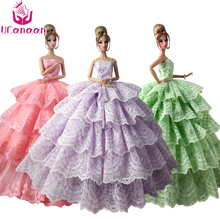 Not Contain Doll ! Ucanaan 1 PC Fishtail Wedding Party Dress For Barbie Doll Limited Collection Elegant Handmade Dress Gift DIY(China)