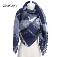 2017 Winter Top Quality Designer Cashmere Brand Scarves Women's Scarf Oversize Triangle Lady Shawl Blanket ZNACZNV JH T01(China)