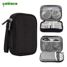 New Digital Double Layer Storage Bag Travel Data Cable U Disk Mouse Power Bank Hard Disk Electronic Accessories Organizer Bag(China)