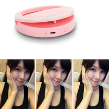 New USB Selfie Ring Light Portable Flash Led Camera Phone Photography Enhancing Photography for Smartphone iPhone 7 plus Samsung(China)