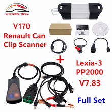 Promotion Price Lexia3 V48 PP2000 V25 Diagbox V7.83 Lexia-3 Lexia 3 With Renault Can Clip V170 Diagnostic Interface DHL Free