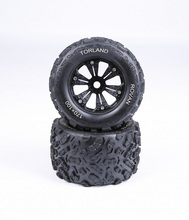 1/8 scale Rovan Torland MONSTER BRUSHLESS RC TRUCK PARTS Knobby tires TORLAND Knobby wheels and tyres - pair 83001(China)
