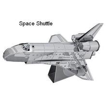 Space shuttle model 3D laser cutting puzzle DIY metalic airplane jigsaw free shipping birthday gift educational toys metal world(China)