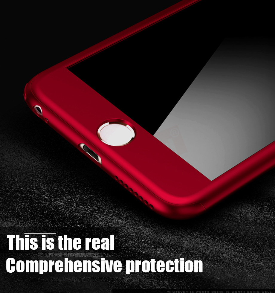 1-PC-For iPhone 6 6s Case 360 For iPhone 7 8 Plus X 10 Case