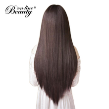 Dark Brown Peruvian Straight Hair Bundles Color 2# Human Hair Extensions 100G/Piece For A Head Beauty On Line Remy Hair Weave(China)