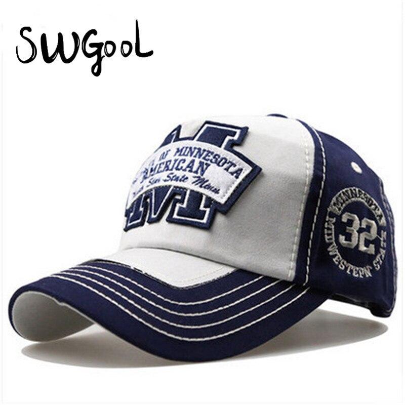 SWGOOL Baseball Cap 2017 new fashion Snapback hats for men spring letter M hockey Bone caps hats for women Brand free shipping<br><br>Aliexpress