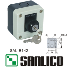 waterproof control box push button switch station (LA68H-B XAL)SAL-B142 rotary selector key lock switch 2-positions(China)