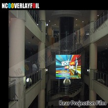 3x1.524 Meters Self Adhesive Dark Grey Holographic Film Rear Projector Screen Film for Windows Advertisements