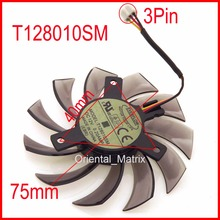T128010SM 75mm 3Pin 40x40x40mm VGA Video Card Fan For GTX580 GTX670 560TI Cooling Fan