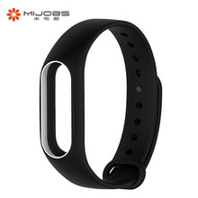 Buy Xiaomi Mi Band 2 Wrist Band Strap Original Mojobs Dual Color Silicone Smart Band Accessories Replacement Wristband Bracelet for $1.81 in AliExpress store