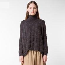 Women's Sweater Turtleneck Pullovers Long Sleeve Loose Crocheted Knitwear Casual Womens Pullover Thick Warm Winter Sweaters(China)