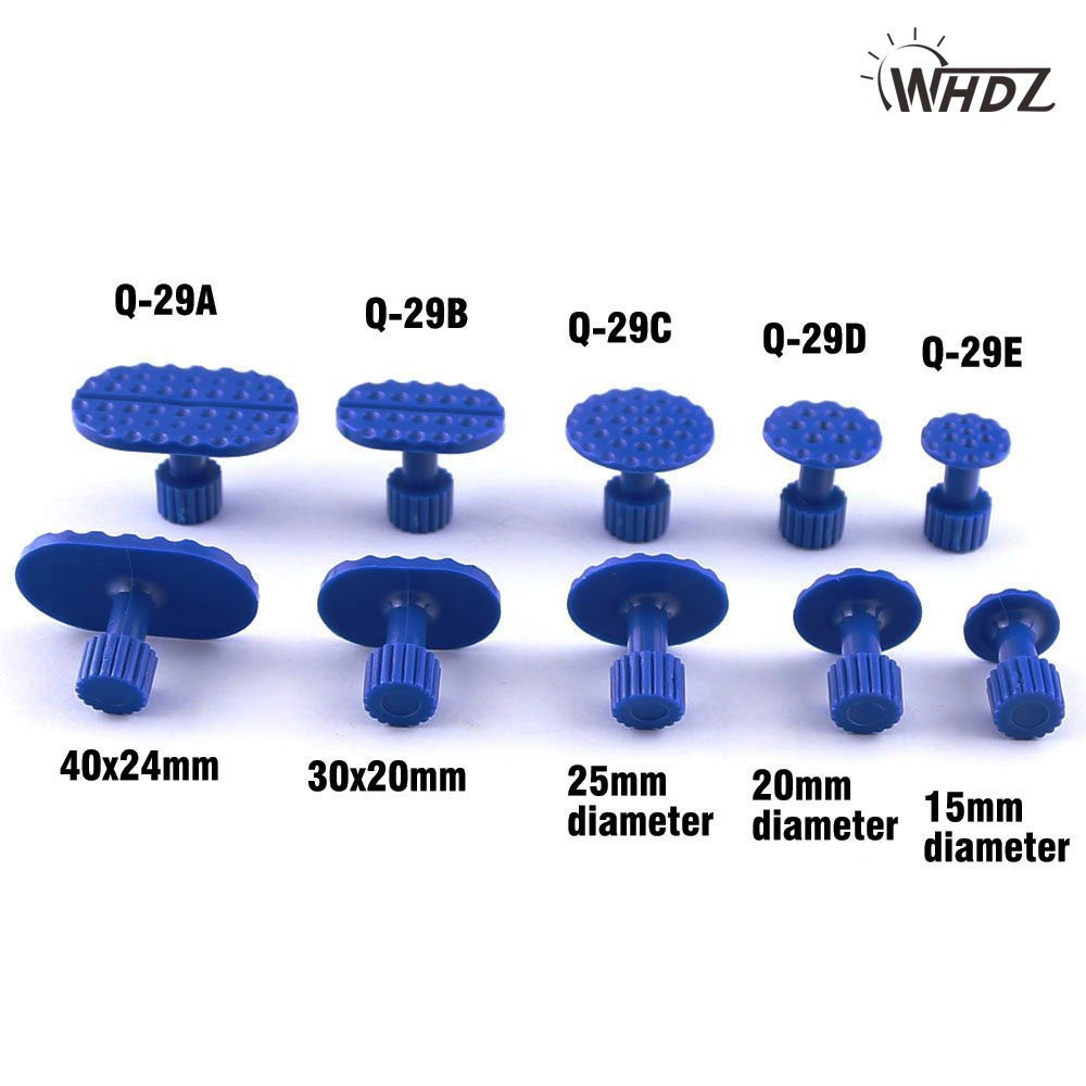 PDR Tool 5 Size Plastic PDR Glue Tabs Professional PDR Dent Tabs Paintless Dent Removal Tabs Car Dent Repair Tools (2)