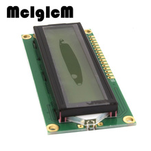McIgIcM 2pcs lcd 1602 yellow screen Character LCD Display Module Blacklight New and Black code Hot sale Free shipping