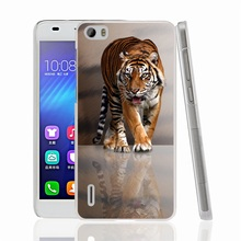 01331 tiger cell phone Cover Case for huawei honor 3C 4A 4X 4C 5X 6 7 8 mate V8 Y6