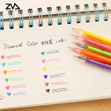 12pcs/lot Korean Creative stationery cute candy color pen cartoon kawaii school office pen rewards for students Free shipping(China)