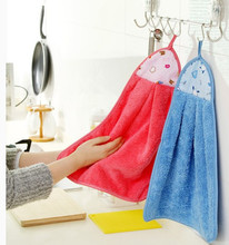 10 pcs/lot kitchen hand towel coral fleece bathroom washcloth cartoon dish towel 34.5 x 47 cm
