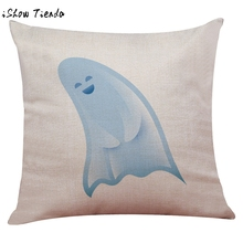 Halloween Ghost Pillow Box Cover Linen Funny Pad Cushions Cases Home pillow cover pillowcase coussins decoratif Gifts drop ship