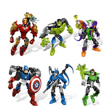 Avengers Hero Captain American&Hulk&Iron Man&Batman&Clown Puzzle Action Figure Toy Building Blocks Christmas Gift For Kids(China)