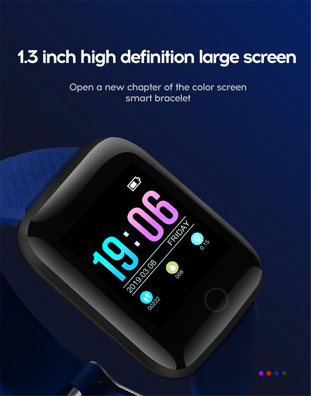 4-130435- Smart Watch Men Blood Pressure Waterproof Smartwatch Women Heart Rate Monitor Fitness Tracker Watch GPS Sport For Android IOS