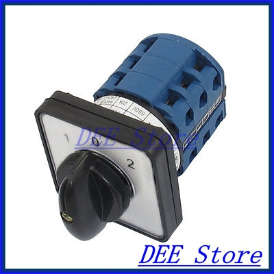 Electric 3 Position 12 Terminals Rotary Cam Changeover Switch 660V 20A<br><br>Aliexpress