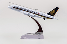 (5pcs/pack) Brand New 1/6 Scale Airplane Model Toys SINGAPORE AIRLINES Airbus A380 Airliner Diecast Metal Plane Model Toy