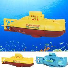 RC Boats 3311 Sea Wing Star 27MHz Radio Control Submarine Tourism Boat Toy Boys Gifts Yellow Blue(China)