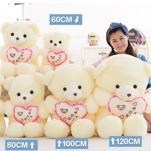 Heart Of Love Teddy Bear Stuffed Animals Birthday Gifts For Girls Peluches Bebe White Mini Teddy Bear Plush Toy 70C00249