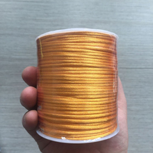 YUMUZ 2mm orange Satin Nylon Cord Knotting cord Jewelery supplies For Necklace Jewelry Crafts 100 meter