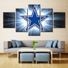 5 Pieces Dallas Cowboys Sport Team Deco Fans Poster Oil Painting On Canvas Modern Home Pictures Prints Decor Living Room Bedroom