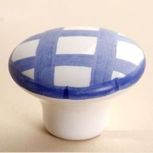 Drawer knob pull handle ceramic kitchen cabinet handle knob white blue porcelain dresser cupboard furniture decoration knob pull