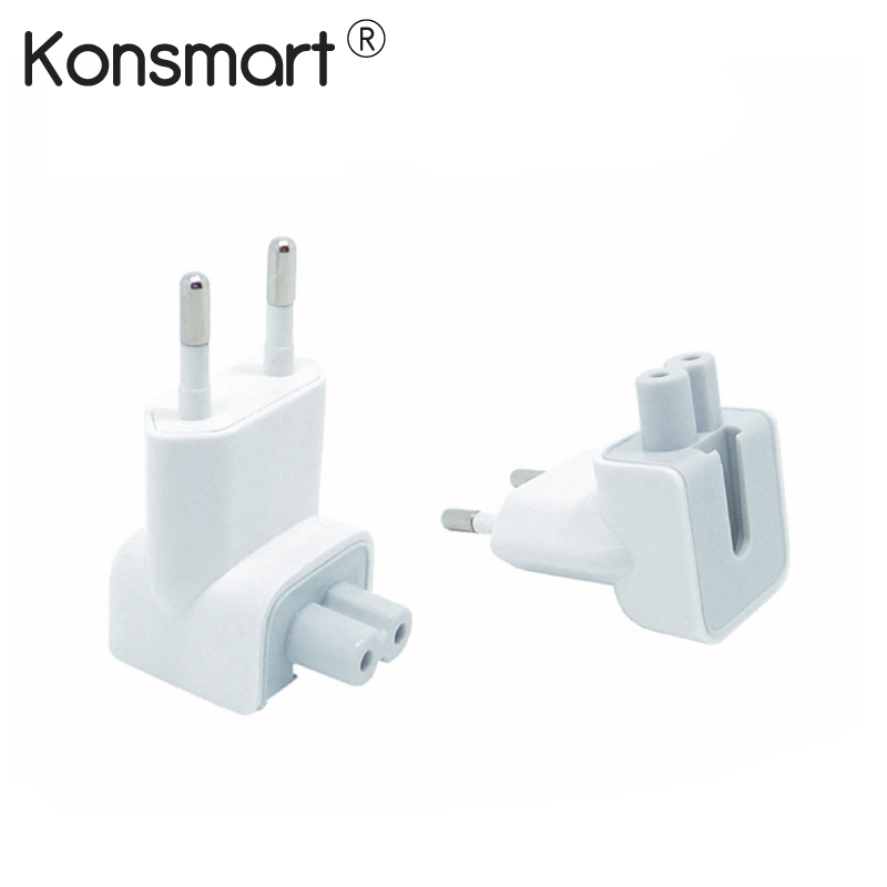 KONSMART Wall AC Detachable Electrical Euro EU Plug Duck Head for Apple iPad iPhone USB Charger MacBook Power Adapter(China)