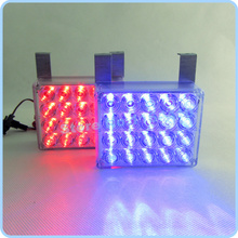 NEW Car Multi-Function 2x20 LED Strobe Light Red & Blue Warning Flash  Lamp Lights Controller 40 LED Red Blue