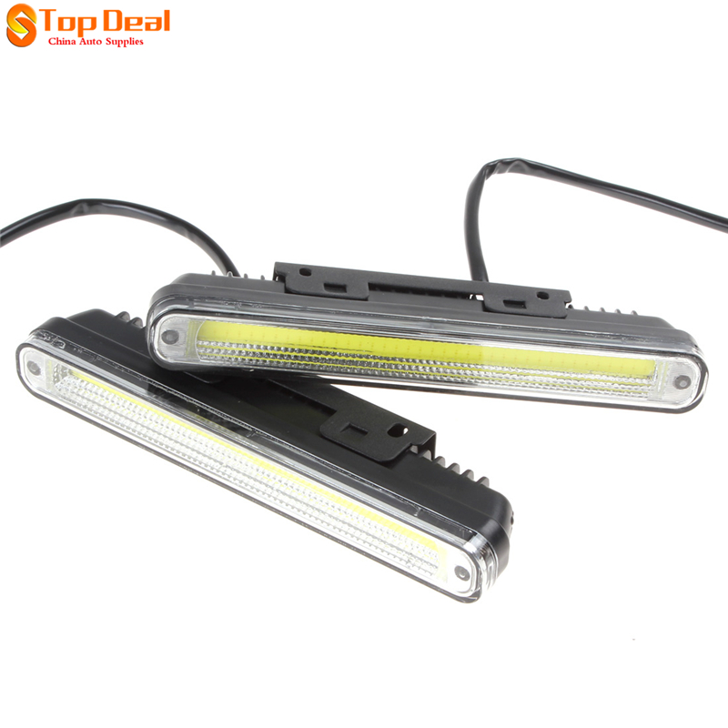 2Pcs 20cm COB LED Vehicles Car Daytime Running Light DRL Super White Warning / Security Lamp with Installation Bracket<br><br>Aliexpress