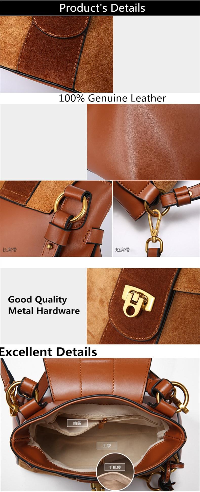Luxury Handbag Women Designer Genuine Leather Bag Women Leather Handbags Shoulder Messenger Bag handbag bolsos muje (1)