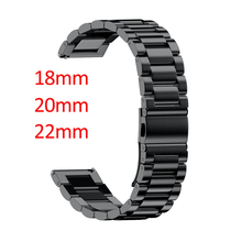 16mm 18mm 20mm 22mm 24mm Width Stainless Steel Band for Samsung Gear Sport S2 S3 Galaxy 42mm 46mm Watch Strap Metal Wristband(China)