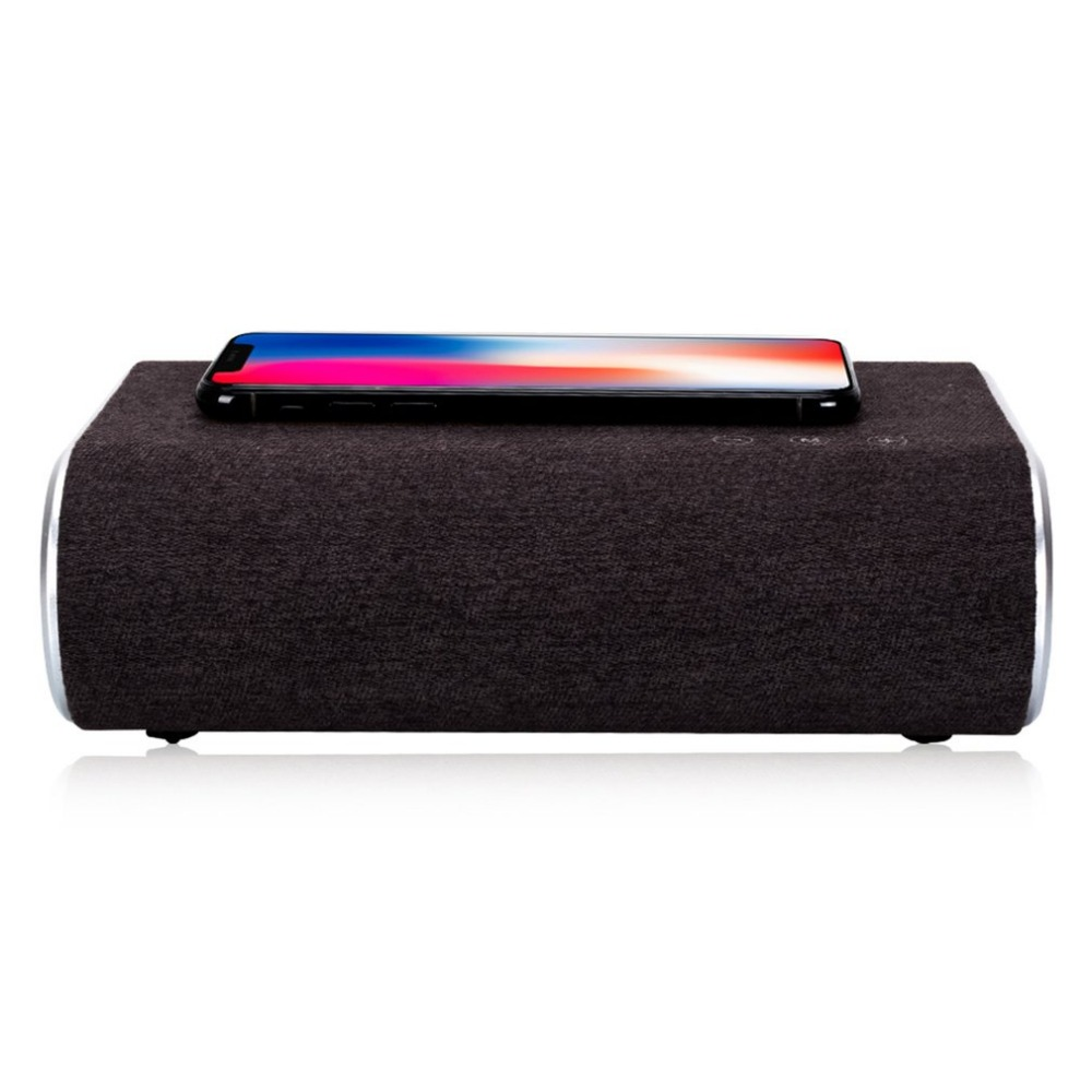 Smart Wireless Charger Bluetooth Speaker Stereo Music Player Portable Travel Quick Charging Adapter For Mobile Phones